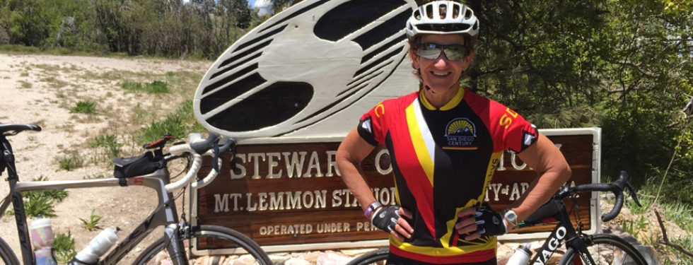 Kathleen Bober banner Mt. Lemmon Observatory ride