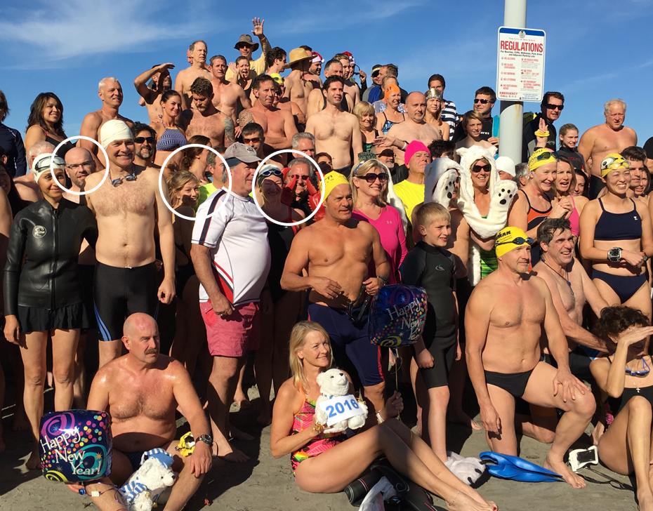2016 La Jolla Swim Club Polar Bear Plunge