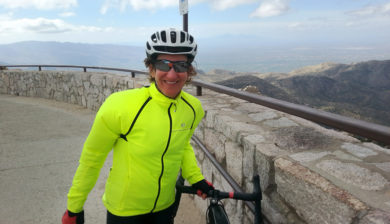 Kathleen Bober at Windy Point, Mt. Lemmon, Arizona