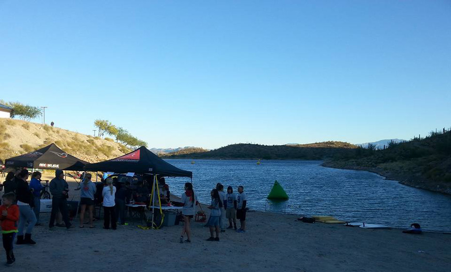 Kathleen Bober at AZ Open Water Swim Series #1 at Lake Pleasant