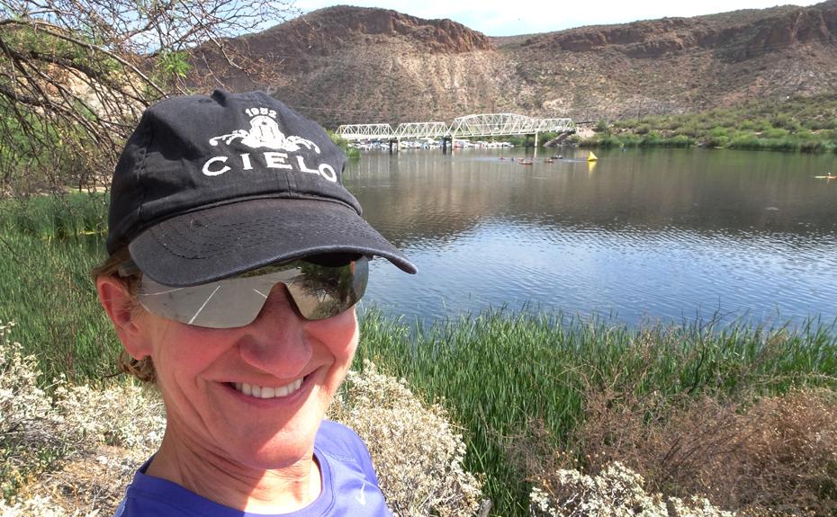 Kathleen Bober at Arizona Open Water Swim Series #3 at Canyon Lake