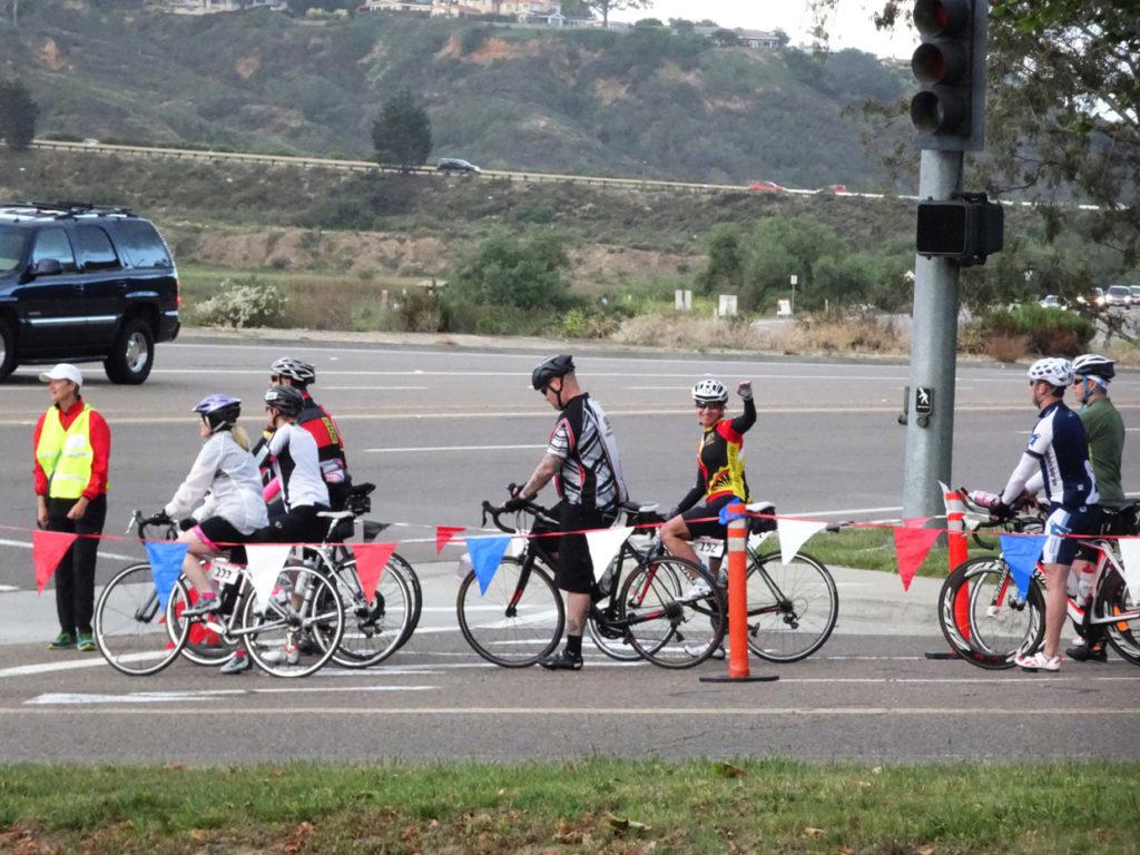 San Diego Century Ride 2016, Kathleen Bober atStart Line