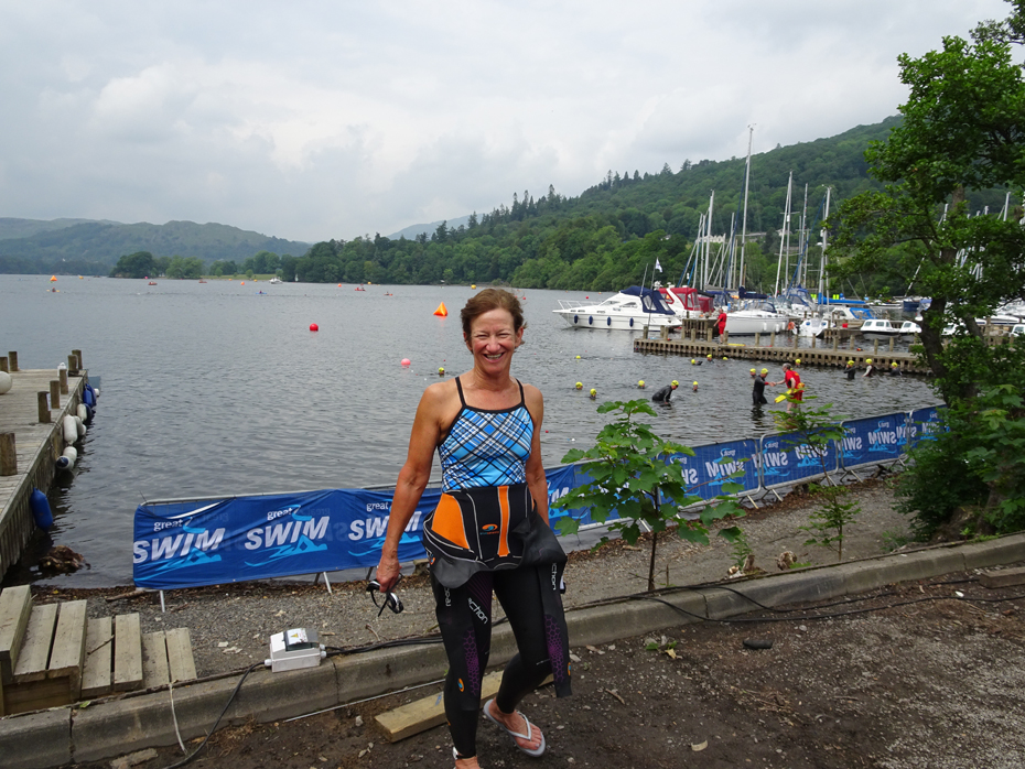 Kathleen Bober at the Great North Swim 2016, Lake Windermere