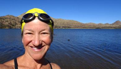 Patagonia Lake State Park, open water swimming, Kathleen Bober
