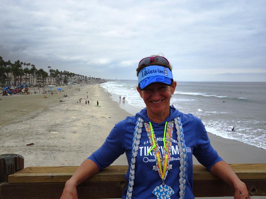 Tiki Swim 7 - 2.4 mile 1st place winner 60+ wetsuit division