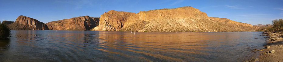 Kathleen Bober swimming at Canyon Lake Arizona, Acacia Recreation Area